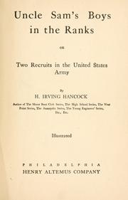 Cover of: Uncle Sam's boys in the ranks