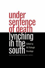 Cover of: Under Sentence of Death | W. Fitzhugh Brundage