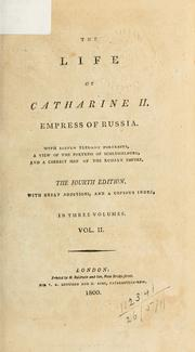 Cover of: The life of Catharine II