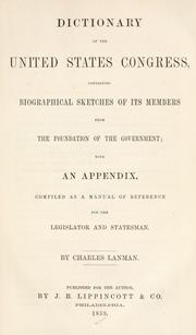 Cover of: Dictionary of the United States Congress