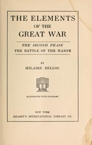 Cover of: A general sketch of the European war | Hilaire Belloc