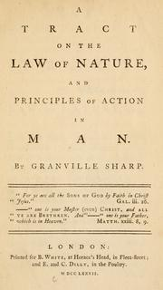 Cover of: A tract on the law of nature: and principles of action in man