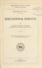 Cover of: Educational surveys