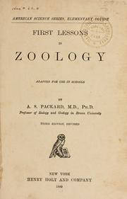 Cover of: First lessons in zoology
