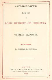 Cover of: Lives of Lord Herbert of Cherbury and Thomas Ellwood