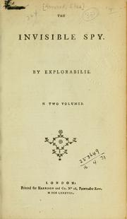 Cover of: The invisible spy