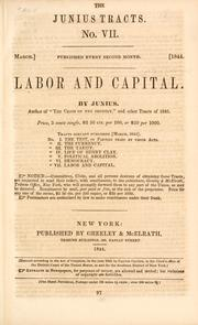 Cover of: Labor and capital