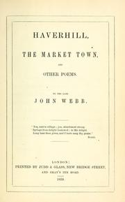 Cover of: Haverhill, the market town