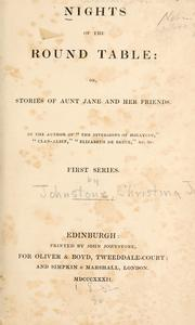Nights of the round table; or, Stories of Aunt Jane and her friends .. by C. I. Johnstone