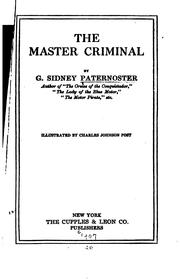 Cover of: The Master Criminal
