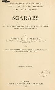 Cover of: Scarabs: an introduction to the study of Egyptian seals and signet rings