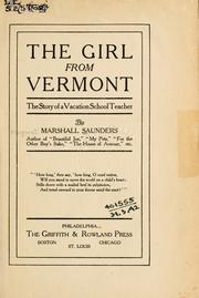 Cover of: The girl from Vermont: the story of a vacation school teacher