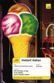 Cover of: Teach Yourself Instant Italian | Elisabeth Smith