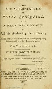 Cover of: The life and adventures of Peter Porcupine