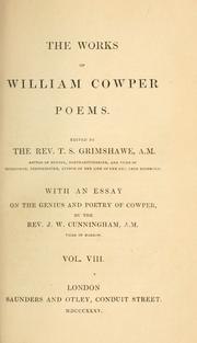 Cover of: The works of William Cowper