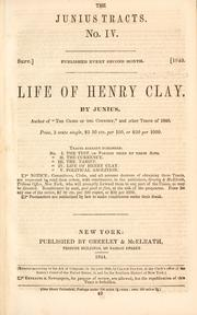 Cover of: Life of Henry Clay