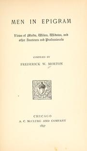 Men in epigram by Frederick William Morton