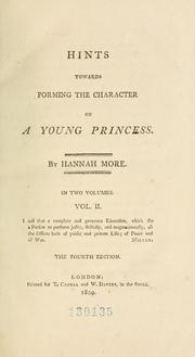 Cover of: Hints towards forming the character of a young princess