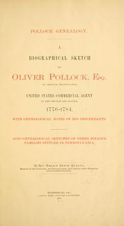 Pollock genealogy by Horace Edwin Hayden