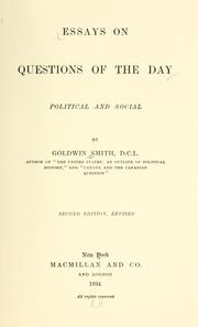 Cover of: Essays on questions of the day