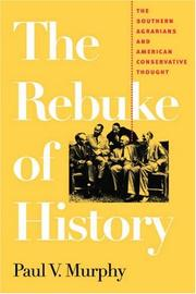Cover of: The Rebuke of History | Paul V. Murphy