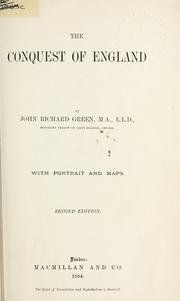 The conquest of England by John Richard Green