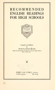 Cover of: Recommended English readings for high schools