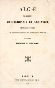 Cover of: Algae maris mediterranei et adriatici