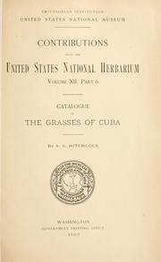 Cover of: Catalogue of the grasses of Cuba