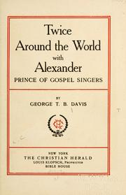 Cover of: Twice around the world with Alexander