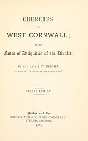 Cover of: Churches of West Cornwall | John Thomas Blight