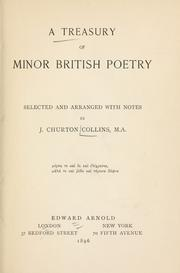 Cover of: Treasury of minor British poetry