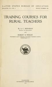 Cover of: Training courses for rural teachers