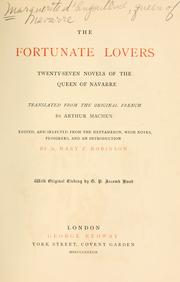 Cover of: The fortunate lovers: twenty-seven novels of the Queen of Navarre