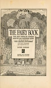 Cover of: The fairy book