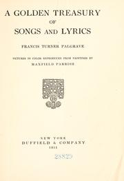 Cover of: The golden treasury of songs and lyrics