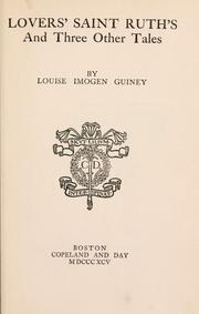 Cover of: Lovers' Saint Ruth's, and three other tales