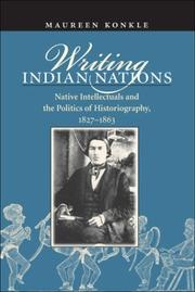 Cover of: Writing Indian Nations | Maureen Konkle