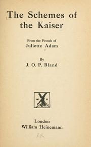 Cover of: Guillaume II (1890-1899): from the French of Juliette Adam