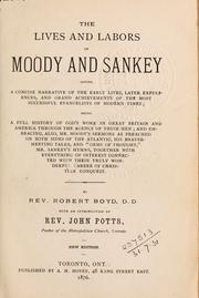 The lives and labors of Moody and Sankey (1876 edition