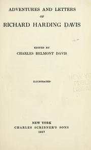 Cover of: Adventures and letters of Richard Harding Davis