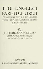 The English parish church by J. Charles Cox
