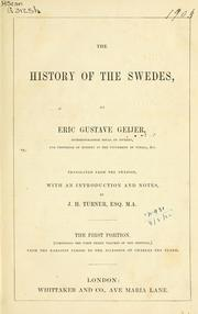 Cover of: The History of the Swedes | Erik Gustaf Geijer