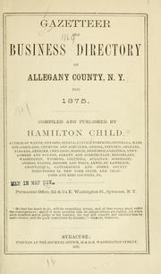Cover of: Gazetteer and business directory of Allegany County, N. Y. for 1875