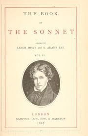 Cover of: The book of the sonnet