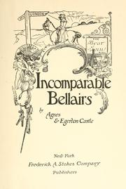 Cover of: Incomparable Bellairs