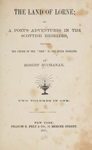 Cover of: The land of Lorne; or