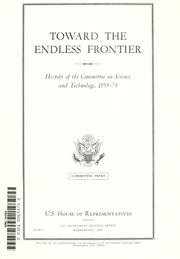 Cover of: Toward the endless frontier