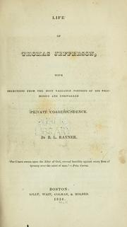 Cover of: Life of Thomas Jefferson by B. L. Rayner