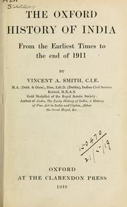 Cover of: The Oxford history of India by Vincent Arthur Smith